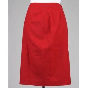 Vintage 🥢 Kors 100% Flannel Wool A-Line Skirt